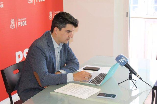 El portavoz del PSOE de Santander, Daniel Fernández