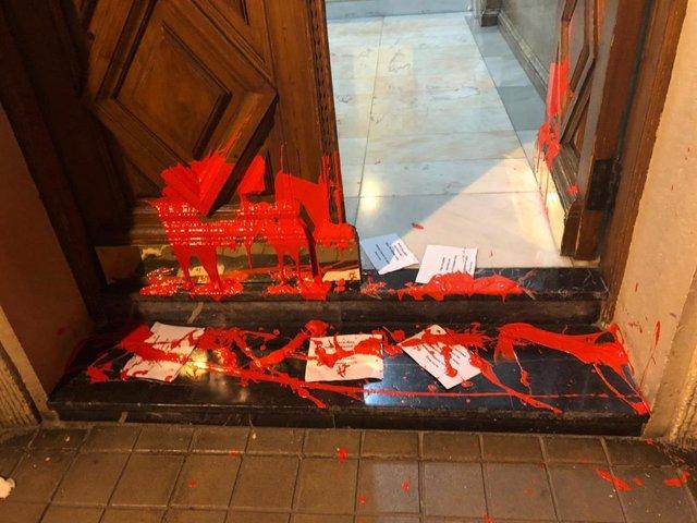 Ataque a la casa de la líder del PSE-EE, Idoia Mendia