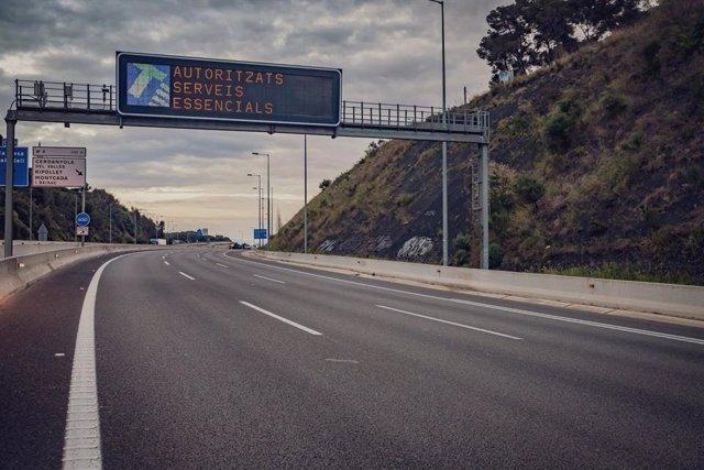 El trànsit a l'àrea de Barcelona