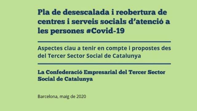 La Confederació Empresarial del Tercer Sector Social de Catalunya elabora un pla de desescalada per als centres i serveis socials d'atenció a les persones