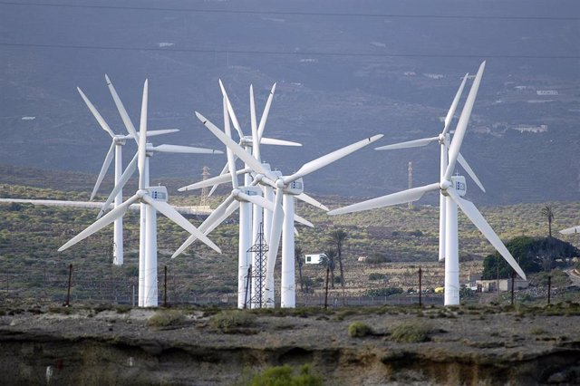 Parque eólico en Tenerife