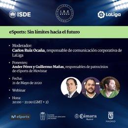 Los eSports, protagonistas del ISDE Webinar dentro de los actos por el ISDE Sports Covention