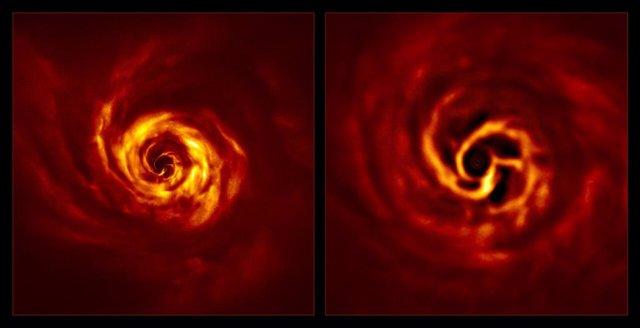 Un telescopio capta por primera vez señales del nacimiento de un planeta
