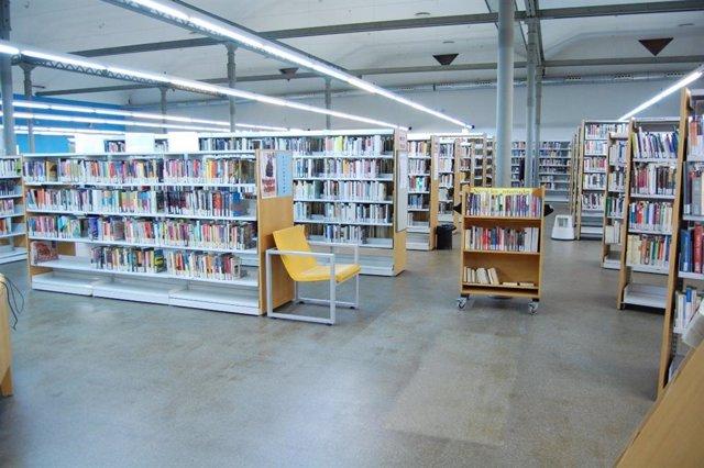 Una biblioteca de Badalona, a Barcelona, en una imatge facilitada per l'Ajuntament