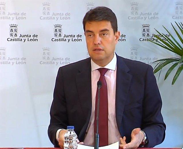 Captura de la comparecencia de Ángel Ibáñez en la rueda de prensa de este miércoles.