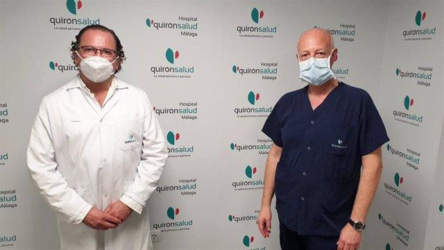 Los doctores Ignacio Marín y Alfonso Navas