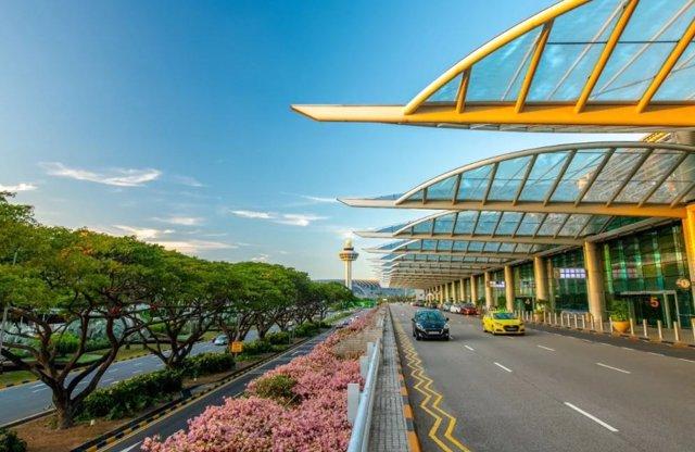 Imagen de archivo de un aeropuerto e Singapur.