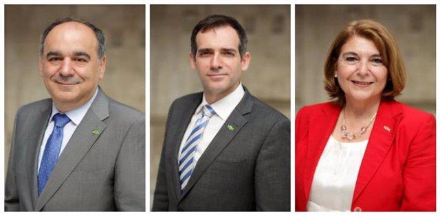Imagen de los tres diputados expedientados: Carrera, Liarte y Campuzano