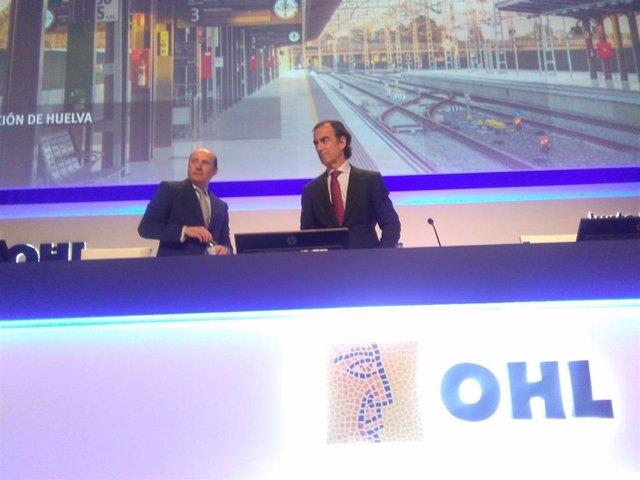 El presidente de OHL, Juan Villar Mir, en la junta general de accionistas de la compañía.