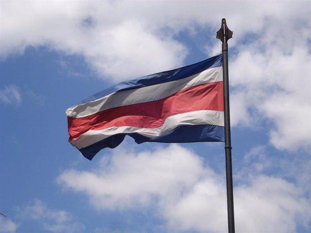Bandera de Costa Rica.