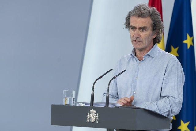 Fernando Simón en la rueda de prensa