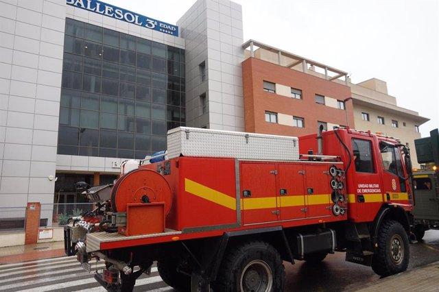 La UME desinfecta la residencia Ballesol de Almería