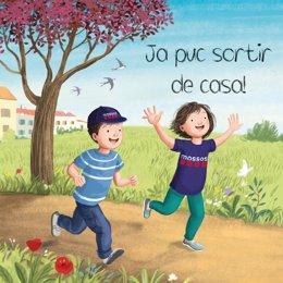 Portada del libro 'Ja puc sortir de casa!' personalizada por los Mossos d'Esquadra