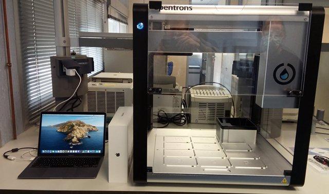 Equipos Opentrons Covid-19, que permitirán analizar 2.400 PCR al día.