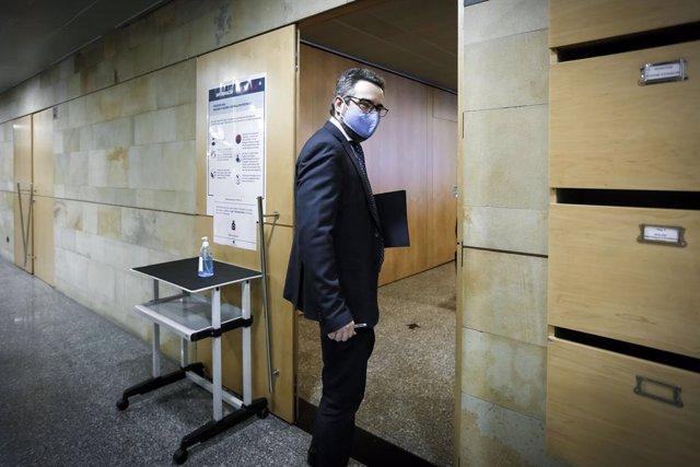 El ministre de Finanazas i portaveu del Govern d'Andorra, Eric Jover.