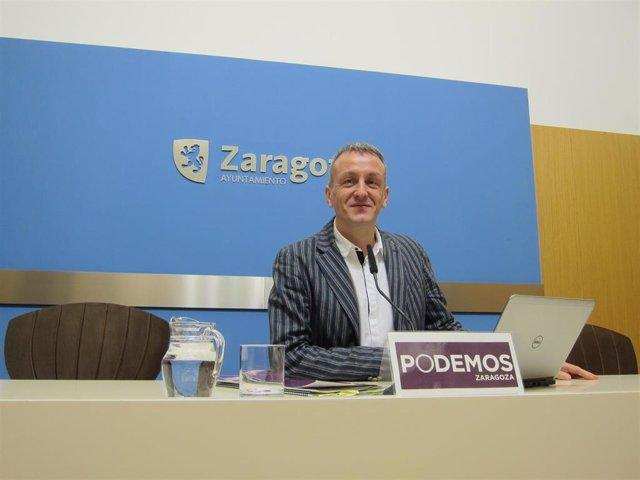 El portavoz de Podemos en el Ayuntamiento de Zaragoza, Fernando Rivarés.