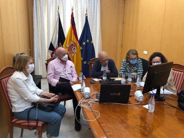 Reunión telemática del Gobierno de Ceuta con el Ministerio de Sanidad