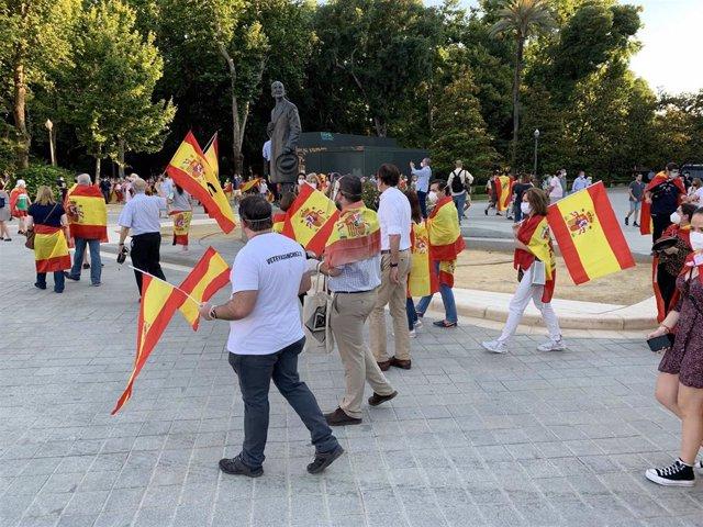 Protesta en la Plaza de España
