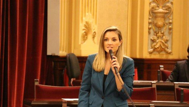 La portavoz adjunta de Cs en el Parlament, Patricia Guasp.