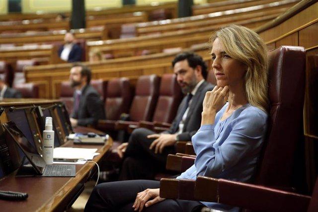 La portavoz del PP en el Congreso, Cayetana Álvarez de Toledo, durante el pleno celebrado este miércoles en el Congreso de los Diputados en Madrid.