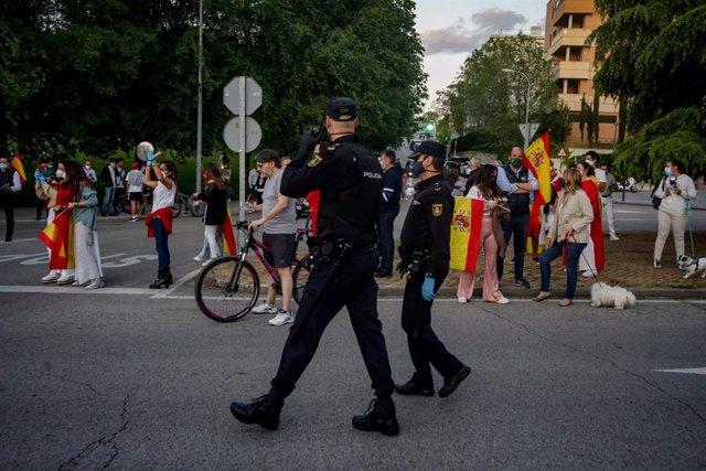 Imagen de archivo de una de las protestas contra el Gobierno de Pedro Sánchez