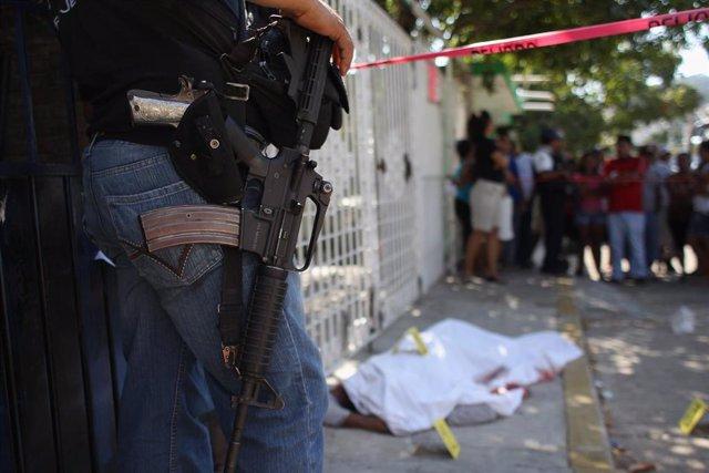 Imagen de recurso de un homicidio en México.