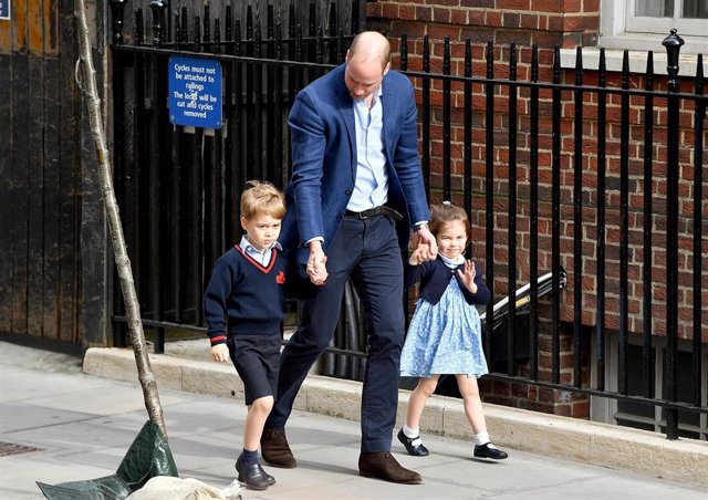 Prince William, Duke Of Cambridge Arrives With Prince George And Princess Charlotte