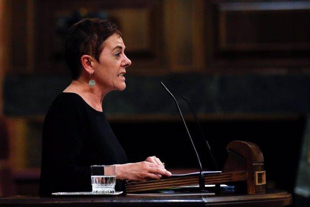 La diputada de EH Bildu Mertxe Aizpurua, durante el debate este miércoles en el Congreso de la quinta prórroga del estado de alarma.