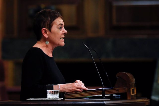 La diputada d'EH Bildu Mertxe Aizpurua, en el debat al Congrés de la cinquena pròrroga de l'estat d'alarma, Madrid (Espanya), 20 de maig del 2020.