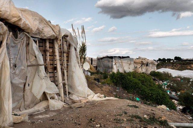 Asentamiento de chabolas en Almería