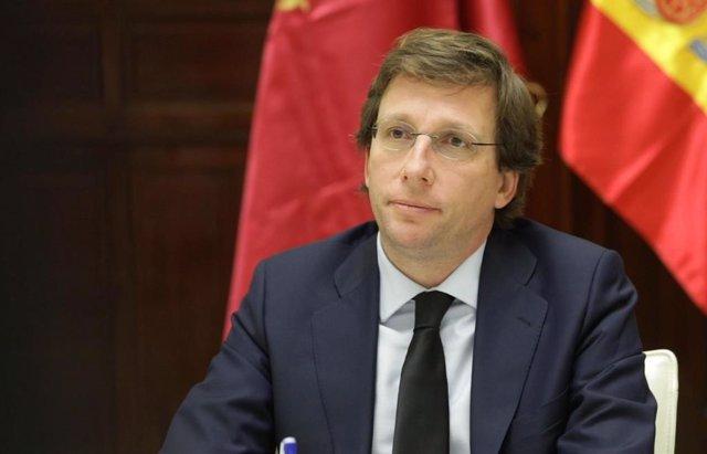 El alcalde de la capital, José Luis Martínez-Almeida, preside la reunión telemática de la Junta de Gobierno