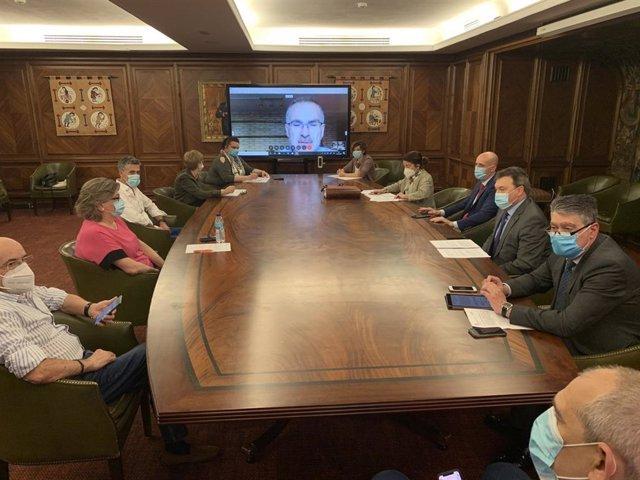 El alcalde de León, José Antonio Diez, preside la Junta de Gobierno Local del Ayuntamiento de León desarrollada este jueves.