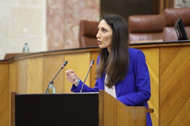 La portavoz adjunta de Ciudadanos  y portavoz en la Comisión de Empleo en el Parlamento andaluz, Mónica Moreno.