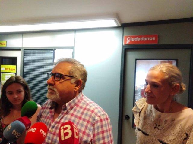 Josep LLuis Bauzà y Eva Pomar, de Ciudadanos.