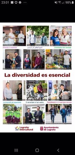 Campaña 'La diversidad es esencial' del Ayuntamiento de Logroño
