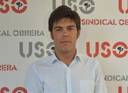 El secretario general de USO, Joaquín Pérez