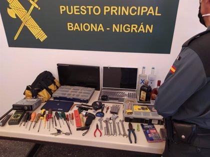 Detenido el presunto autor de casi una veintena de robos cometidos en Baiona (Pontevedra)