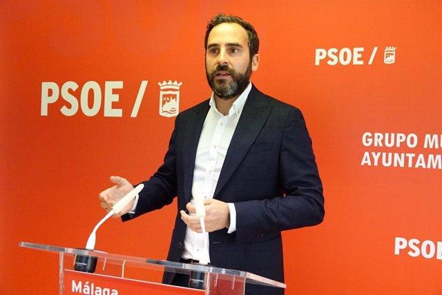 El portavoz del PSOE en el Ayuntamiento de Málaga, Daniel Pérez