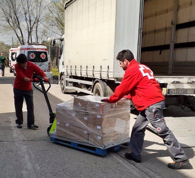 Almacen logístico de Cruz Roja