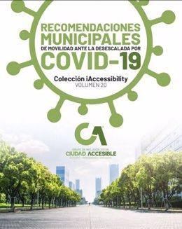 Imagen de la portada del manual de recomendaciones de movilidad para la desescalada distribuido por Diputación a los ayuntamientos