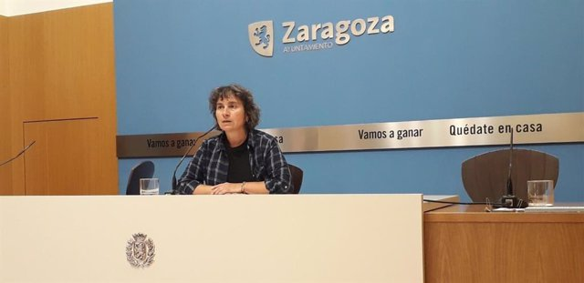 La concejala de ZeC en el Ayuntamiento, Luisa Broto.