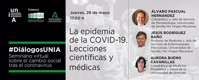 Los seminarios '#DiálogosUNIA' analizan las lecciones científicas y médicas de la Covid-19.