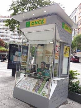 Nuevo quiosco de la Once en Santiago de Compostela