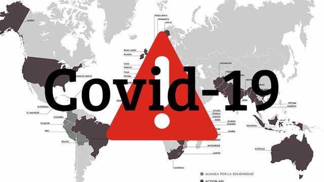 Mapa del mundo ante el Covid-19