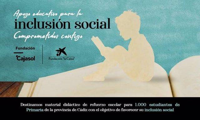 Imagen del proyecto de apoyo educativo puesto en marcha por la Fundación Cajasol y la Fundación La Caixa