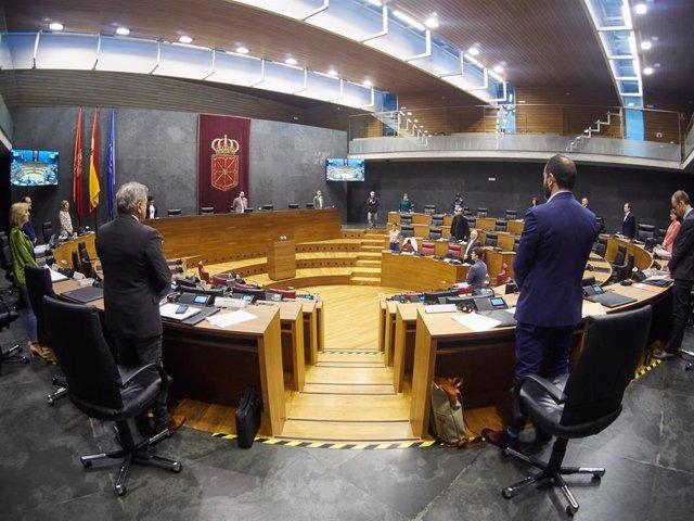 Vista general del Parlamento de Navarra