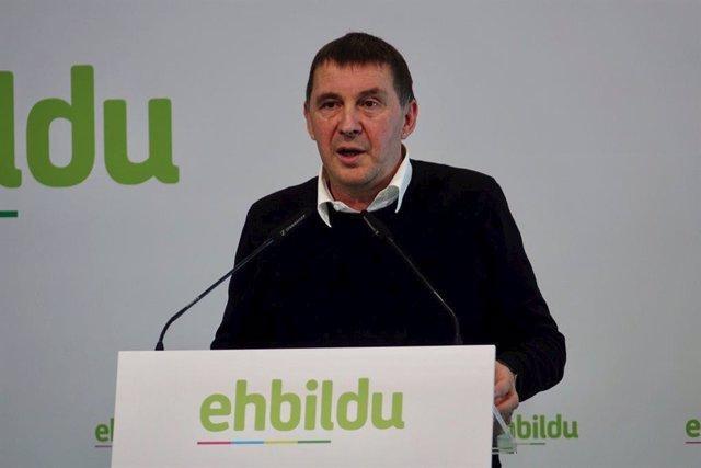 EL coordinador general d'EH Bildu, Arnaldo Otegi