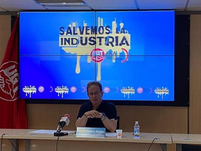 El secretario general de UGT-FICA, Pedro Hojas