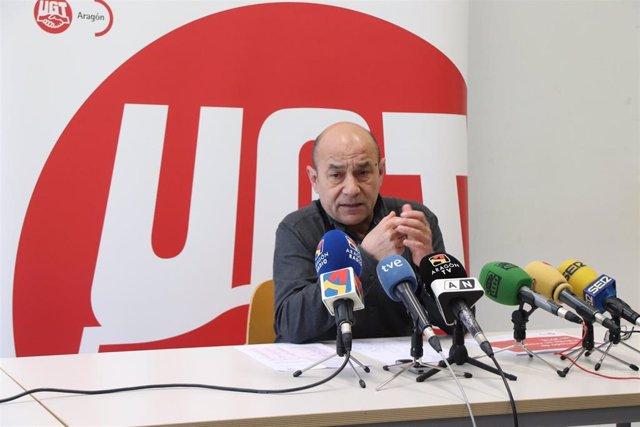 El secretario general de UGT-Aragón, Daniel Alastuey.
