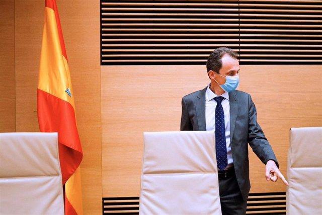 El ministro de Ciencia e Innovación, Pedro Duque, comparece ante la Comisión de Ciencia, Innovación y Universidades del Congreso de los Diputados